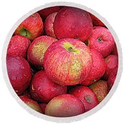 Fresh Apples Round Beach Towel
