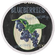 Fresh Berries 1 Round Beach Towel