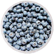 Fresh Blueberries  Round Beach Towel by JC Findley