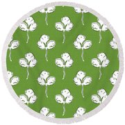 Fresh Cilantro- Art By Linda Woods Round Beach Towel