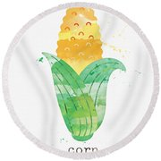 Fresh Corn Round Beach Towel