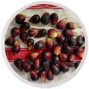 Round Beach Towel featuring the photograph Fresh Figs by Kim Nelson