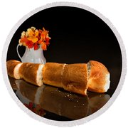 Fresh French Bread Round Beach Towel
