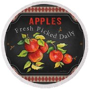 Fresh Fruit-jp3738 Round Beach Towel