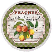 Fresh Fruit Trio--jp3757 Round Beach Towel