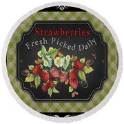 Fresh Fruit Trio--jp3758 Round Beach Towel