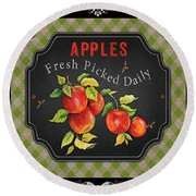 Fresh Fruit Trio--jp3759 Round Beach Towel