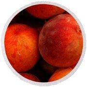 Fresh Fuzzy Peaches Round Beach Towel by Ian  MacDonald
