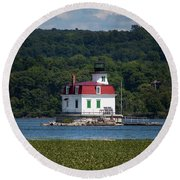 Round Beach Towel featuring the photograph Fresh Paint by Jeff Severson