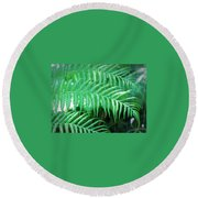 Fresh Rain Round Beach Towel