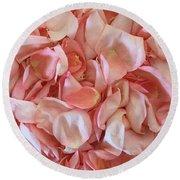 Fresh Rose Petals Round Beach Towel