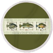 Freshwater Gamefish Round Beach Towel