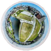 Freshwater Way Little Planet Round Beach Towel
