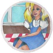 Frey's Dolly Round Beach Towel by Loretta Nash