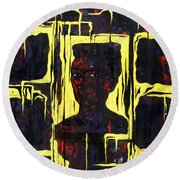 Frida - La Luz Round Beach Towel