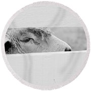 Friendly Sheep Round Beach Towel