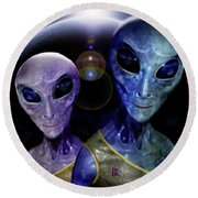 Friendly  Universe  Citizens  Round Beach Towel