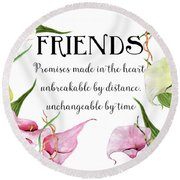 Round Beach Towel featuring the digital art Friends by Colleen Taylor