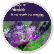 Friendship Round Beach Towel by Irma BACKELANT GALLERIES