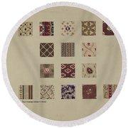 Friendship Quilt-patchwork Section Round Beach Towel
