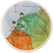 Friesland During The Time Of The Roman Empire Round Beach Towel