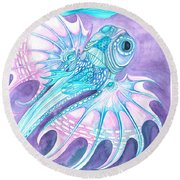 Frilled Fish Round Beach Towel by Adria Trail