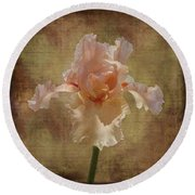 Frilly Iris Round Beach Towel