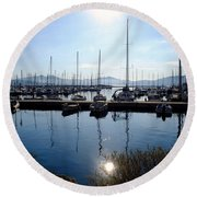 Frioul Island Sailing Resort Round Beach Towel