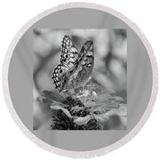 Fritillary Butterfly Round Beach Towel