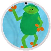 Froggie Round Beach Towel