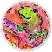 Froggy Round Beach Towel