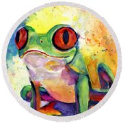 Froggy Mcfrogerson Round Beach Towel