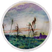 From A Distance 2 Round Beach Towel