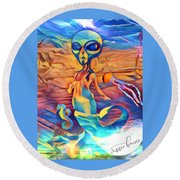 From A World Inside Of Another Round Beach Towel by Vennie Kocsis