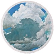 From Both Sides Now Round Beach Towel