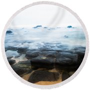 Round Beach Towel featuring the photograph From Dark To Light by Parker Cunningham