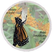 From Darkness To Light Round Beach Towel