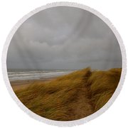 From Dunes To Sea Round Beach Towel