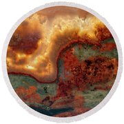 From Fire And Stone Round Beach Towel
