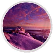 Round Beach Towel featuring the photograph From Inside The Heart Of Each by Phil Koch