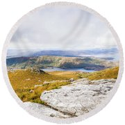 From Mountains To Lakes Round Beach Towel