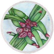 From My Garden 3 Round Beach Towel by Versel Reid