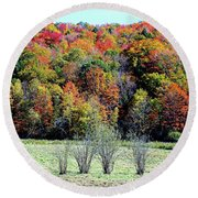 From New Hampshire With Love - Fall Foliage Round Beach Towel by Joseph Hendrix