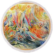 From Soul To Canvas Round Beach Towel