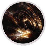 Round Beach Towel featuring the digital art From The Beyond by Isabella F Abbie Shores FRSA