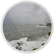 From The Castle Wall Round Beach Towel