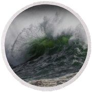 From The Deep Round Beach Towel by Mark Alder