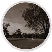 Round Beach Towel featuring the photograph From The Fields - The Hermitage by James L Bartlett