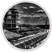 From The Hulman Suites  Round Beach Towel