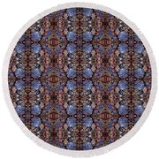 from the ongoing series called digitized ballpoint Circuler Eights Thrird Cousib Round Beach Towel